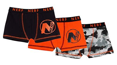 Nerf Jungen Boxershorts Kids Camouflage Unterwäsche Slip Boxer Trunks (3 Stück) Gr. 5-6 Jahre, Multi