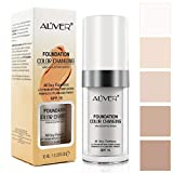 Foundation Liquid,Concealer Cover Cream,Flawless Colour Changing Foundation Makeup,Warm Skin Tone, Cosmetics for Women and Girls