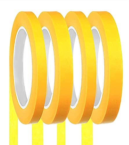 塗装用 マスキングテープ 幅10mm 18mm 長さ20m 4巻セット 養生テープ プラモデル塗装 建築塗装 車用 手芸用 仮止めテープ