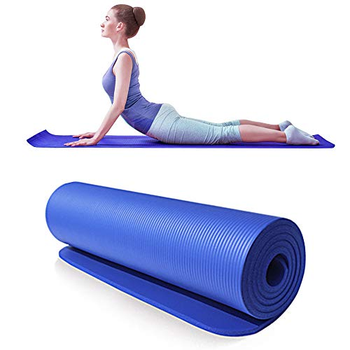 Lixada Esterilla de yoga gruesa 183 x 61 x 1 cm antideslizante, esterilla de yoga multifuncional para pilates, fitness y baile