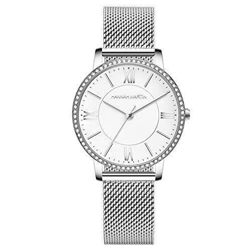 Yuzhijie 2019 nuevo modelo privado reloj de cuarzo de lujo de la luz del nicho de la base japonesa, plata