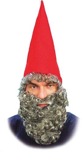 PARTY DISCOUNT ® Hut-Set Zwerg, Mütze mit Bart, rot