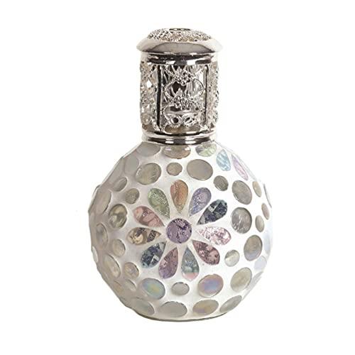 Aromatize Lámpara de aceite de fragancia grande floral perla decorativa 16 cm