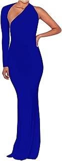 Women's Sexy Elegant One Shoulder Backless Evening Long Dress