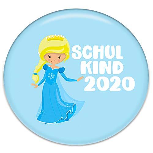 Polarkind Button Pin Anstecker Eiskönigin Schulkind 2020 Geschenk zum Schulanfang für Schultüte Zuckertüte 38mm Handmade Mädchen