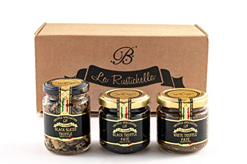La Rustichella Tartufo Nero, Bianco Paté & Nero Sliced di Tartufo Set270 g