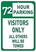 ガレージアートメタルサイン、72時間駐車場の訪問者のみ牽引されます、ビールカフェバーパブビールクラブの壁の家の装飾レトロ