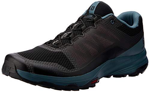Salomon XA Discovery, Zapatillas de Trail Running para Hombre, Negro/Azul (Black/Mallard Blue/Ebony), 45 1/3 EU