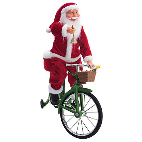 Mr. Christmas 30482 Cycling Santa Holiday Decoration, One Size, Multi
