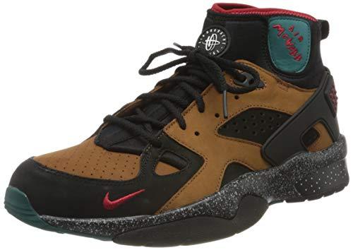 Nike W Air Mowabb Nxn, Chaussure de Course Femme, Noir/Gym Rouge-Lt Britannique Tan-Geode Sarcelle, 38 EU