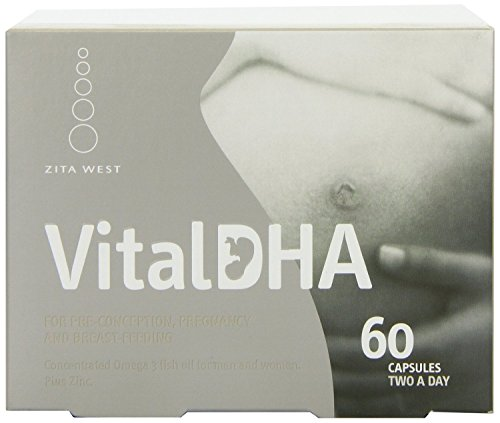 THREE PACKS of Zita West Vital DHA (Blister Pack) Capsules x 60