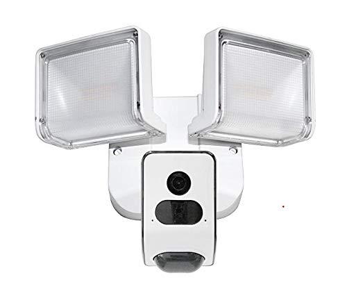 LUVISION Led-schijnwerper, lamp met camera en bewegingssensor, bewakingscamera, buitenlamp met bewegingsdetectie