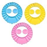 Duschhaube Kinder,3er Pack Einstellbare Baby Duschhaube,Kinder Shampoo Kappe Shampoo Schutz für Kinder Ohren,für Kleinkind Babypflege