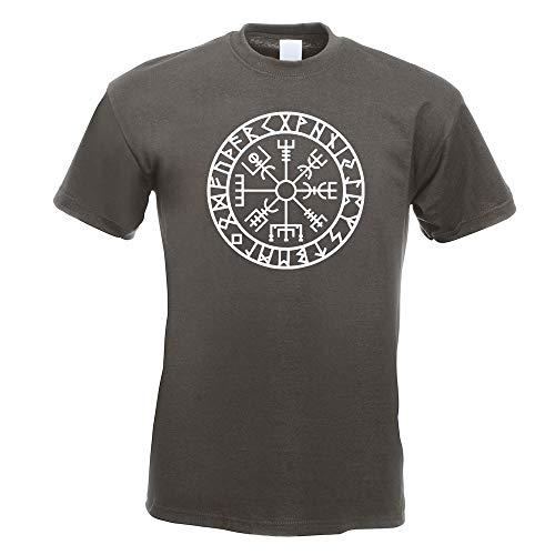 Wikingerkompass Runen T-Shirt Motiv Bedruckt Funshirt Design Print