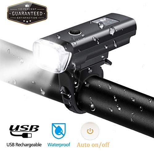 Enorme//luz Tenue Bicicleta l/ámpara STVZO Autorizado Bicicleta luz con USB Bater/ía Bere Agua Densidad Bicicleta Luces OUTERDO Bicicleta Frontal Luces ouerdo LED 1200/mAh