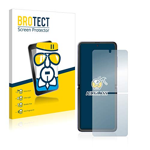 BROTECT Panzerglas Schutzfolie kompatibel mit Samsung Galaxy Z Flip / 5G - AirGlass, extrem Kratzfest, Anti-Fingerprint, Ultra-transparent