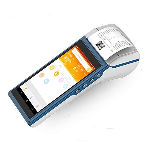 LLC-POWER Terminal Portable POS avec 58Mm Imprimante Thermique, 5 Pouces À Écran Tactile, Support BT WiFi USB OTG 4G Communication 1D / 2D Balayage NFC, Restaurant Rue Vendor