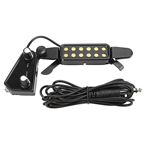 Pastilla de guitarra Guitarra acústica Transductor eléctrico Clip-On Soundhole Pastilla Preamplificador Amplificador...