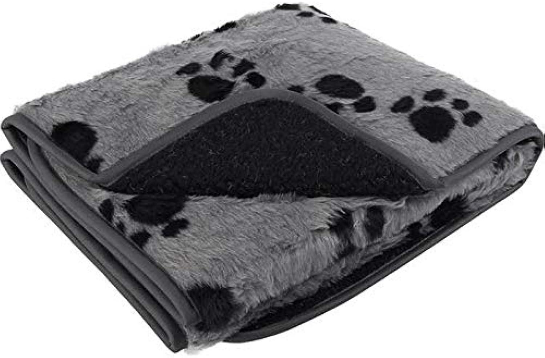 Petface Sherpa Printed Fleece Blanket Grey and Black