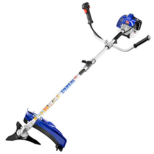 DEREAL Pro 42.7CC Full Crank Gas-String-Trimmer 2-Cycle Gas Brush Cutter Gasoline Powered Grass Weed-Easter Wacker Attachment Capabilities for Lawn Care, Liberty