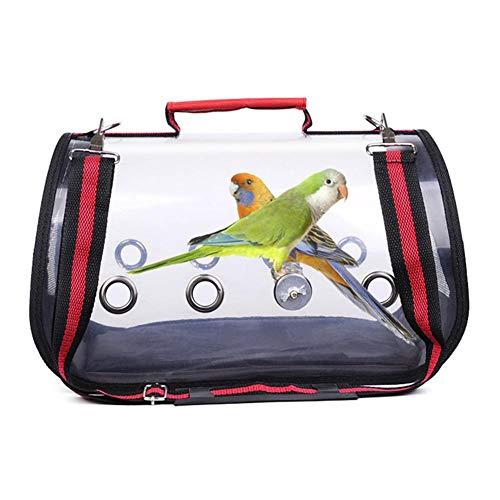 Szseven 1 PC Tragetuch Vögel schützen Papagei-Rucksack Metro Outdoor atmungsaktiv Vogel-Transportkäfig-Transport-Rucksack Hand Verstellbare Gepolsterte Schultergurt Vögeltragebeutel