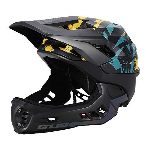 Blusea Casco Integrale per Bambini, Casco modulare Removibile Casco Ciclismo con Anti-cursore Downhill Bici Equitazione Skateboard Pattinaggio, Ragazzo Ragazza Bambino Neutro (Nero - S)