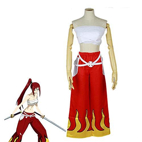 CHANGL Japanisches Anime Fairy Tail Cosplay Kostüm Erza Scarlet Cosplay Kostüm Unisex Halloween Kostüm