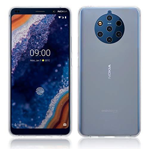 TERRAPIN, Kompatibel mit Nokia 9 PureView Hülle, TPU Schutzhülle Tasche Hülle Cover - Transparent (Matt Finish, Nicht Voll Transparent)