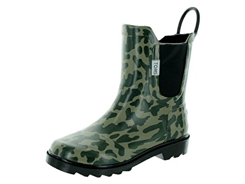 TOMS Youth Rain Boot Camo Rubber 2 M US Little Kid
