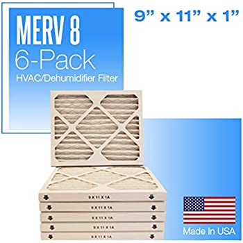 Nordic Pure 9x11x1 Exact MERV 8 Pure Carbon Pleated Odor Reduction AC Furnace Air Filters 1 Pack