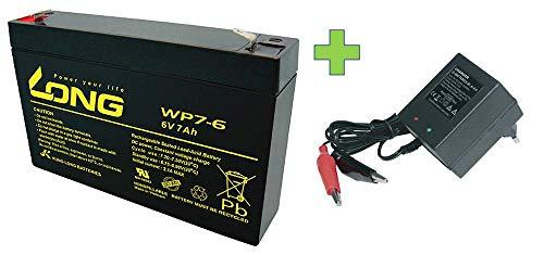 AGM BLEI AKKU Batterie 6V 7Ah kompatibel 3-FM-7 20HR 3 FM 7 3FM7 6V 7Ah AGM Blei Gel wie 7,2Ah 7.2Ah 7Ah 7,0Ah 8Ah BLEIGEL Gel 7,2Ah + LADEGERÄT