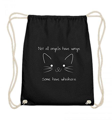 Nicht alle Engel haben Flügel - manche haben Schnurrhaare   Katze Katzen Kätzchen - Baumwoll Gymsac
