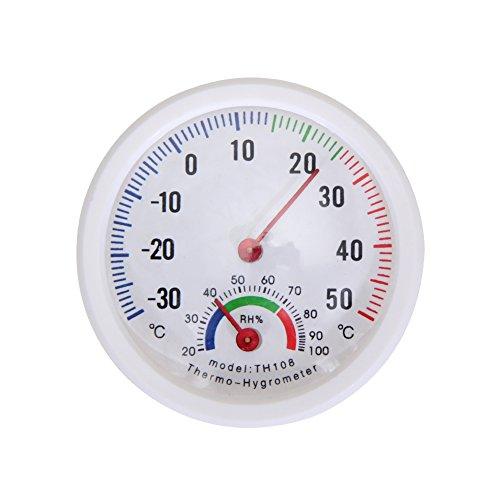 Demiawaking Mini Bell-förmigen Maßstab Thermometer und Hygrometer für Haus Büro Garten