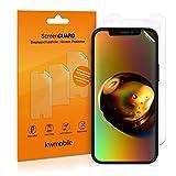 kwmobile 3x pellicola salvaschermo compatibile con Apple iPhone 12 mini - Film protettivo proteggi telefono - protezione antigraffio display smartphone