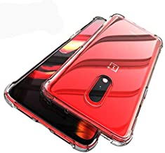 Tarkan Shockproof Bumper Soft Protective Back Case Cover for OnePlus 7 (Transparent)