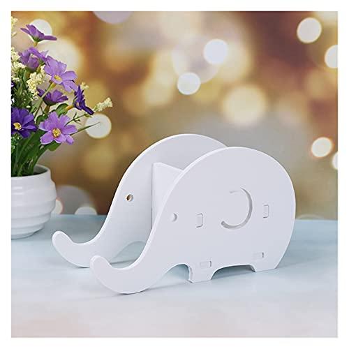 mygzq Artículos de Escritorio Organizador, Soporte de lápiz de Elefante Creativo Multifuncional para Accesorios de Escritorio de Oficina decoración del hogar (Blanco) (Color : Elephant)
