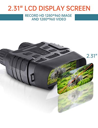"Digital Night Vision Binoculars 7x31mm 2.31"" TFT LCD Screen with 32GB TF Card Camera Photos Videos Recorder in Full Dark"