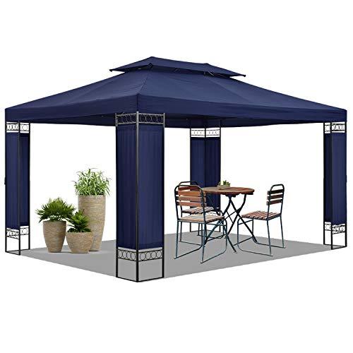 ArtLife Gartenzelt Capri 3 x 4 m in blau – Outdoor Pavillon wasserabweisend – für Garten-Feste und Feiern – aus stabilem Metall und Polyester