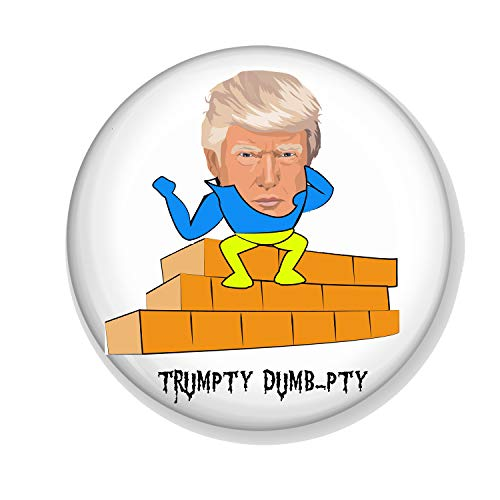 Gifts & Gadgets Co. Trumpty Dumb-pty USA President Badge 25 mm Butterfly Clutch Pin Back Round Anstecknadel