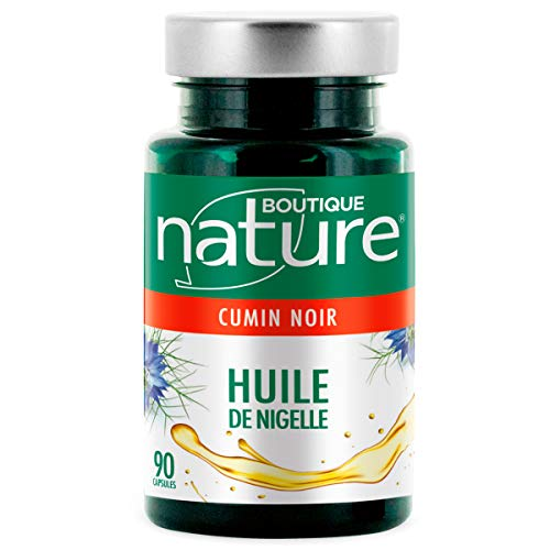 Boutique Nature - Complément Alimentaire - Huile de Nigelle - 90 Capsules Marines - Renforce les défenses...
