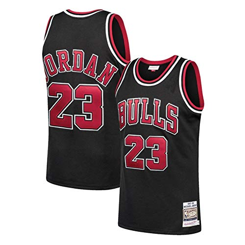Fei Fei Chicago Bulls #23 Michael Jordan Maschile Maglie da Basket Canotta Sportiva Stile Sportivo Estate Maglie Basket Uniforme Top Basketball Suit (Taglia:S-XXL),B. Black 23,XL