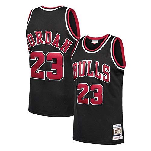 Fei Fei Chicago Bulls #23 Michael Jordan Maschile Maglie da Basket Canotta Sportiva Stile Sportivo Estate Maglie Basket Uniforme Top Basketball Suit (Taglia:S-XXL),B. Black 23,S
