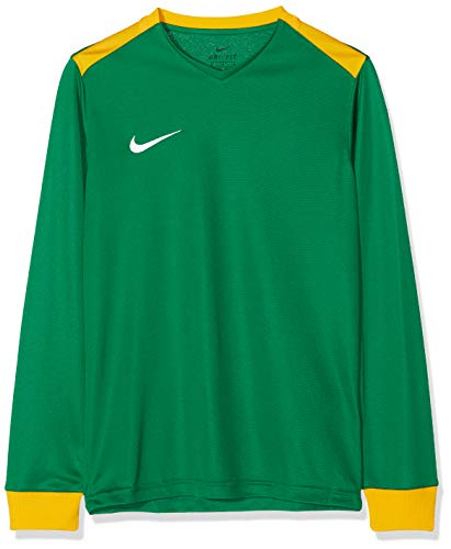 NIKE Y Nk Dry Prk Drby II JSY LS Long Sleeved T-Shirt, Unisex niños, Pine Green/University Gold/University Gold/(White), M