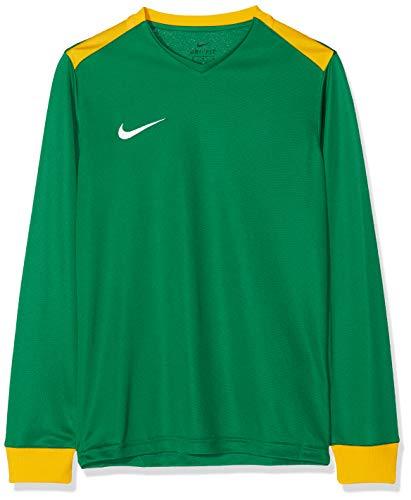 Nike Kinder Y NK DRY PRK DRBY II JSY LS Long Sleeved T-shirt, pine green/university gold, XS