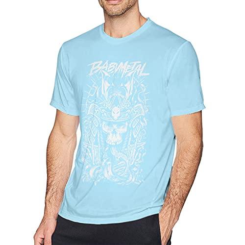 Babymetal T Shirt Sky Blue M Men T-Shirt aus Baumwolle für Herren Kurzarm Männer Tshirt Rundhalsausschnitt