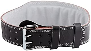 """Aurion Maya HideLeather 4"""" Weight Lifting Belt Body Fitness Gym Back Support Power Lifting Belt"""