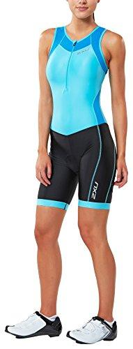 2XU Damen X-Vent Front Zip Trisuit Triathloneinteiler, Black, M