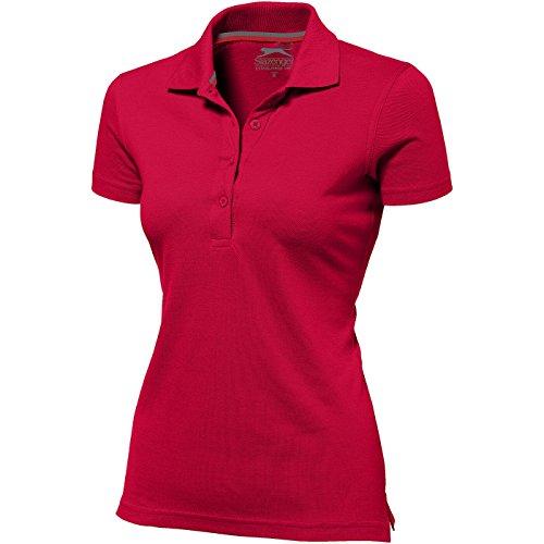 Slazenger Advantage Damen-Poloshirt, kurzärmlig - Rot, XL