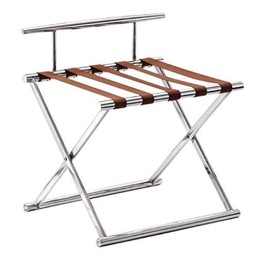 Lowest Prices! HYY-YY Luggage Rack Hotel Room Foldable Stainless Steel Luggage Compartment, Hotel Lu...