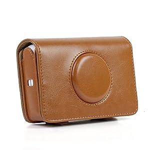 Piel sintética Bolsa de la cámara cámara Retro Protectora Funda para Polaroid Snap Touch Modelo cámaras